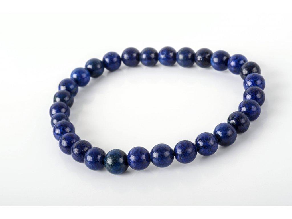 Náramek lapis lazuli 6mm