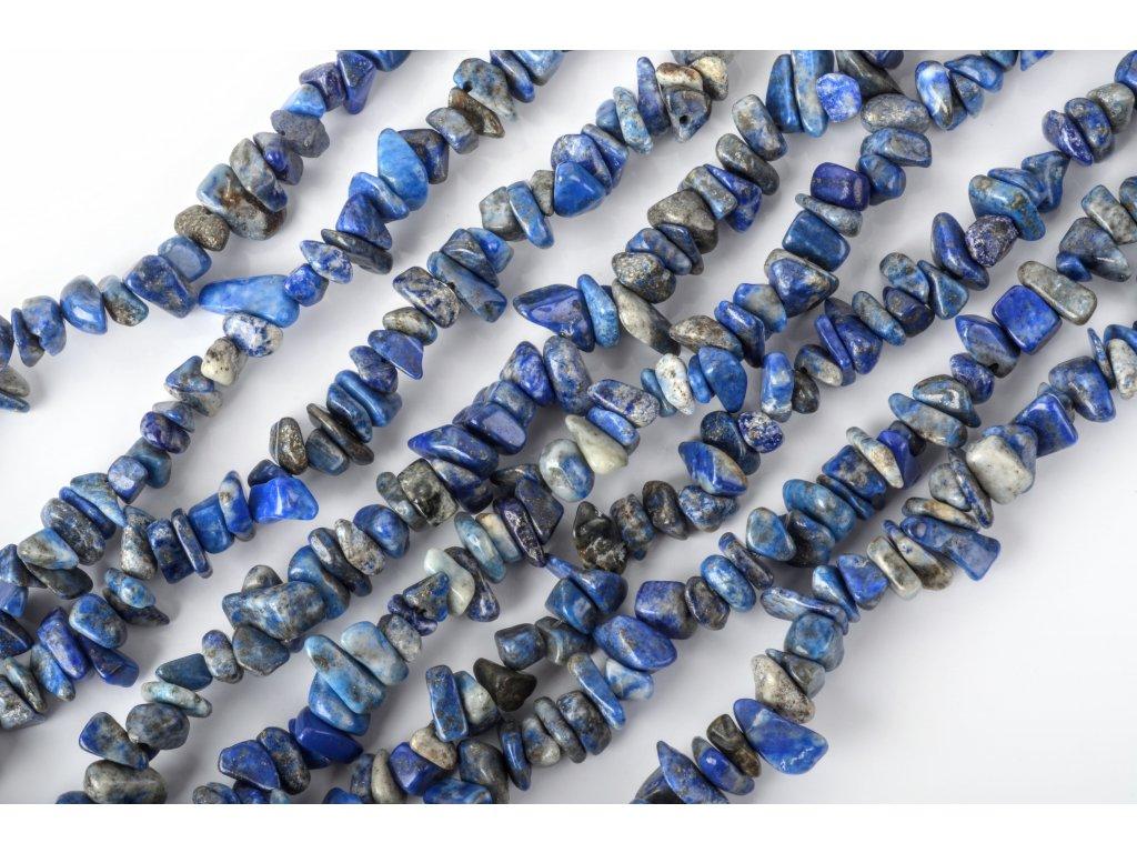 Lapis lazuli tromlovaný šňůra 90 cm