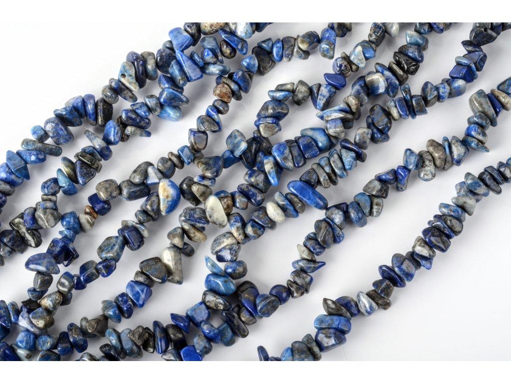 Lapis lazuli tromlovaný šňůra 60 cm