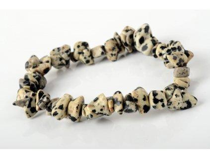 Jaspis dalmatin náramek tromlovaný