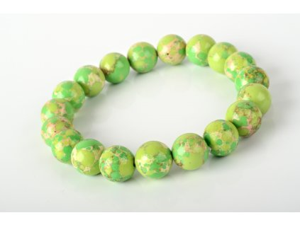 Náramek regalit zelený 10mm