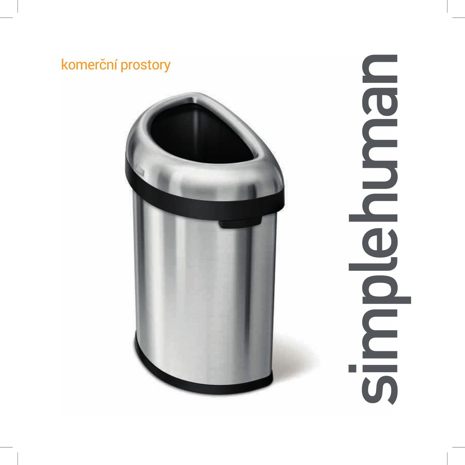 SIMPLEHUMAN - koše pro komerční využití 2018