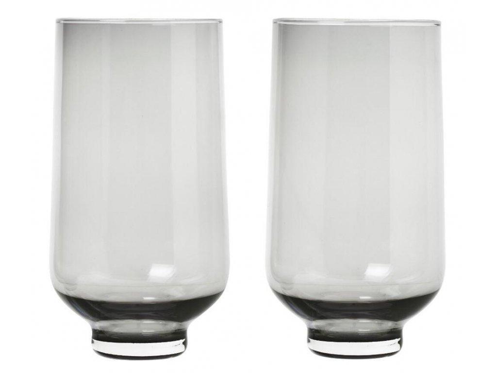 Set 2 ks sklenice, flow, 400 ml, kouřové BLOMUS