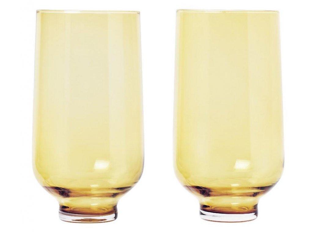 Set 2 ks sklenice, flow, 400 ml, zlaté BLOMUS