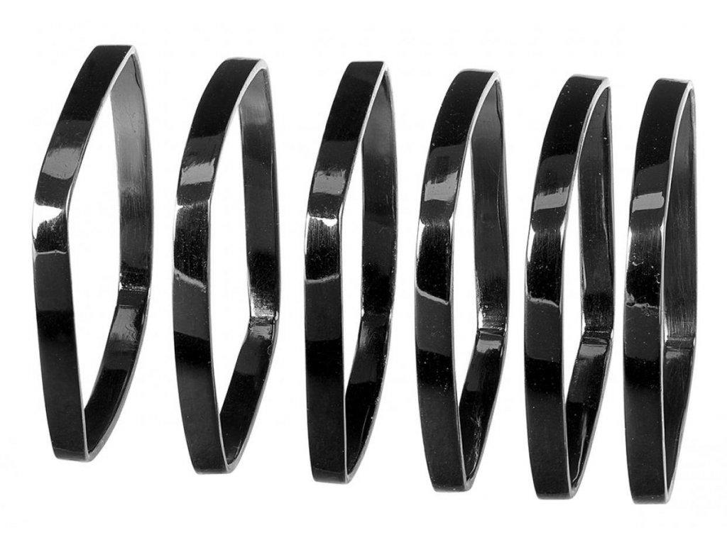 Sada 6 kroužků na ubrousky, černá BLOMUS
