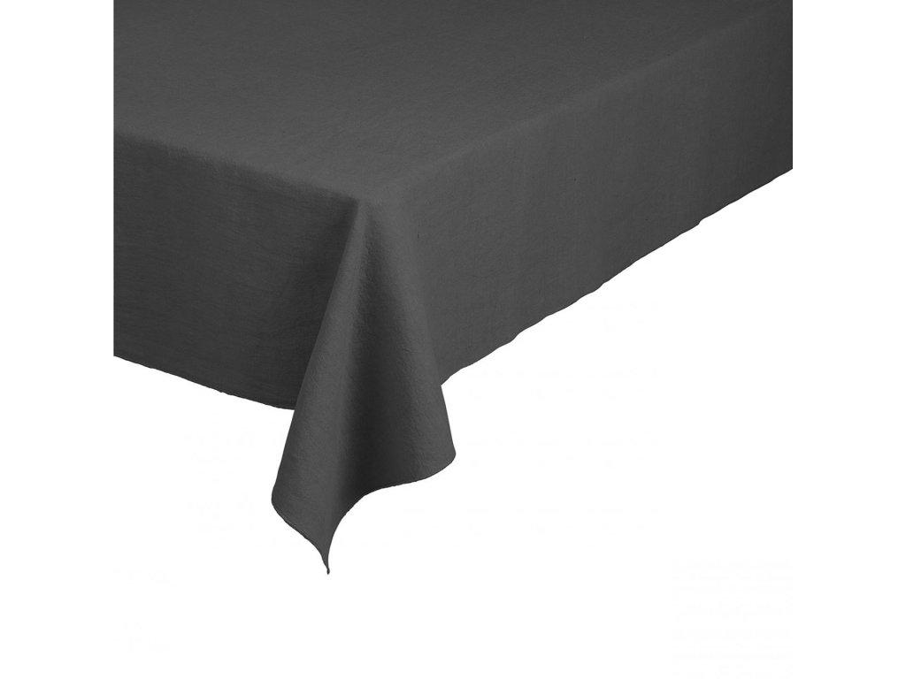 Lněný ubrus 140 x 220 cm, šedočerný BLOMUS