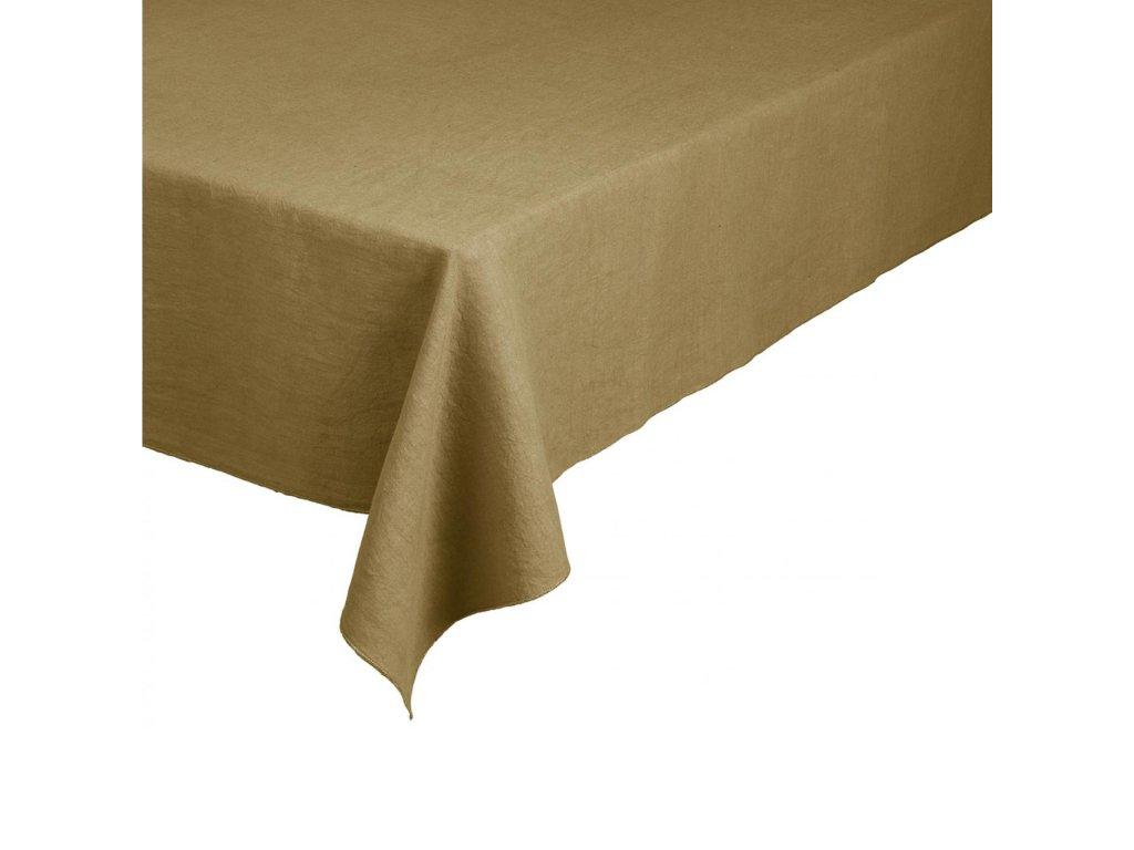 Lněný ubrus 160 x 300 cm, zlatavý BLOMUS
