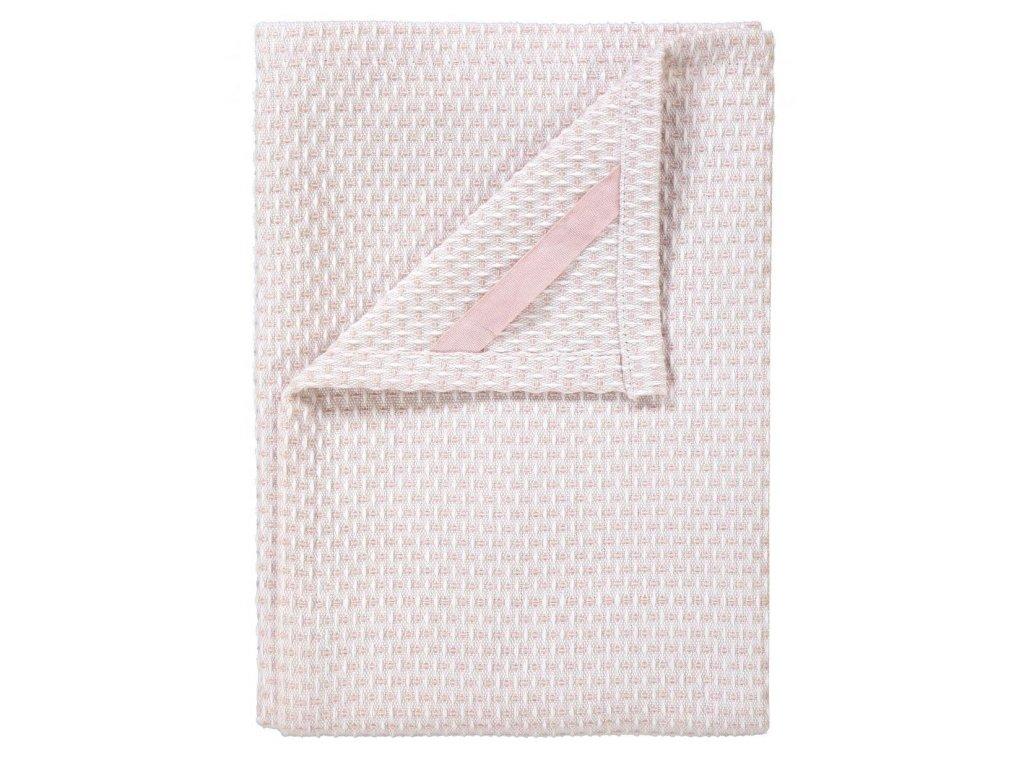 Utěrka na nádobí set 2 ks, 50 x 70 ks, bílé/světle růžové, ridge BLOMUS