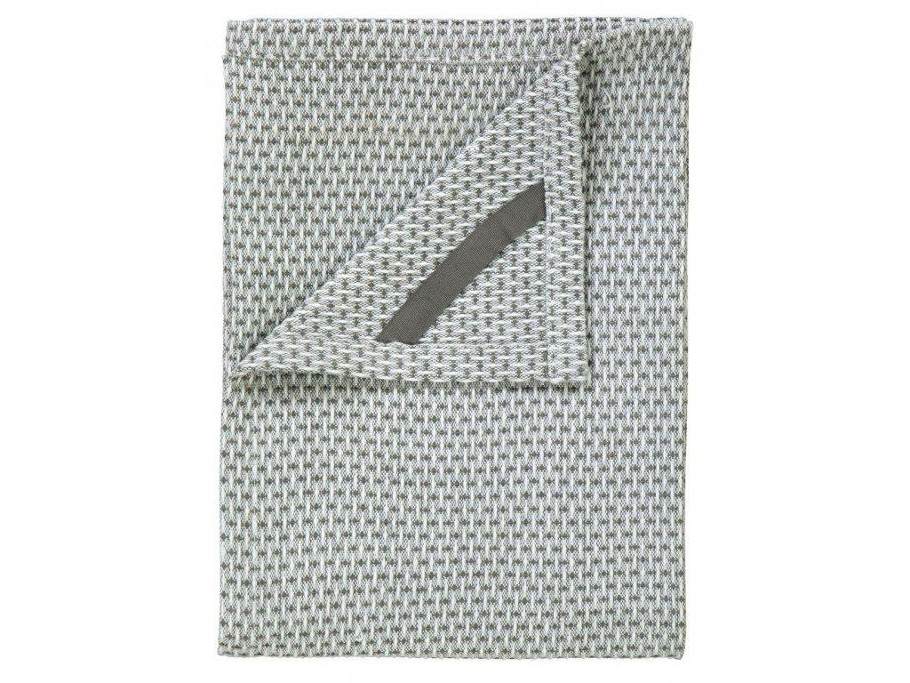 Utěrka na nádobí set 2 ks, 50 x 70 ks, bílé/khaki, ridge BLOMUS