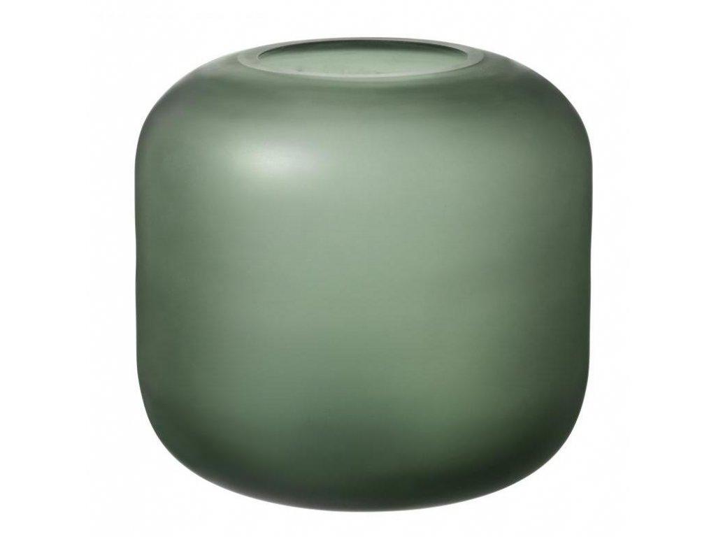 Váza malá, skleněná, zelená BLOMUS