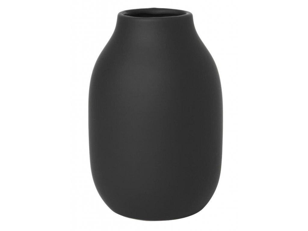 Váza malá, porcelánová, černá BLOMUS