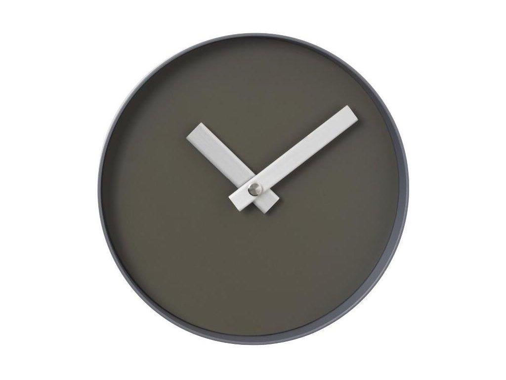 Nástěnné hodiny malé, šedohnědé BLOMUS