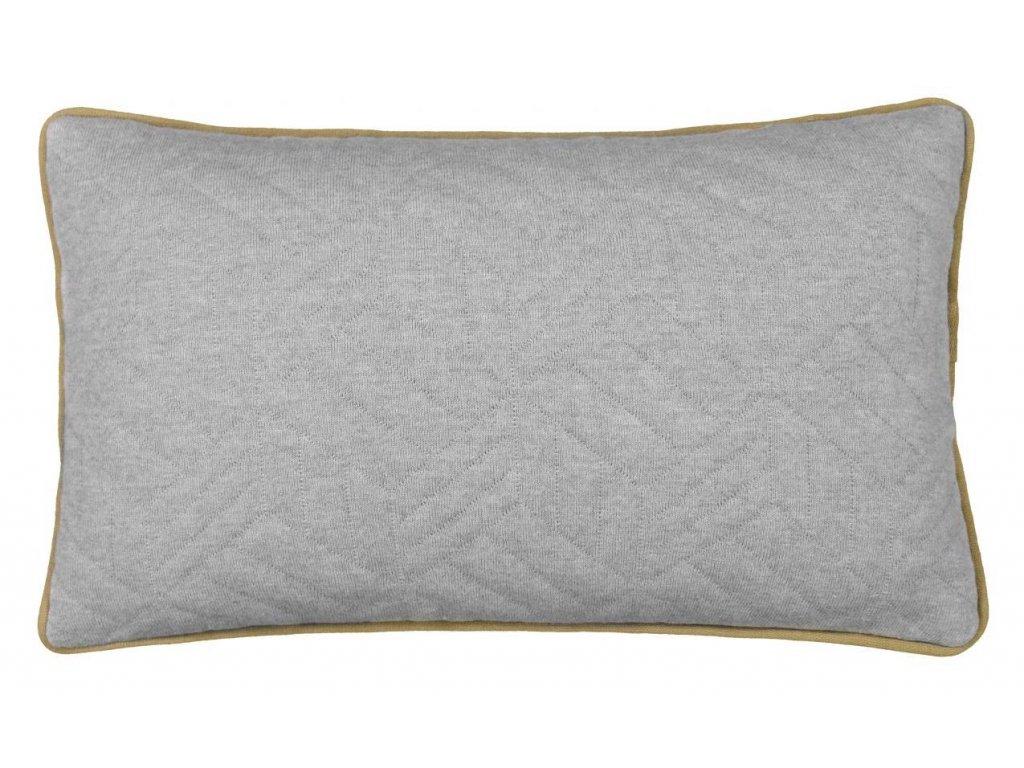 Polštářek s lemováním, šedobílý/šedý, 50 x 30 cm BLOMUS