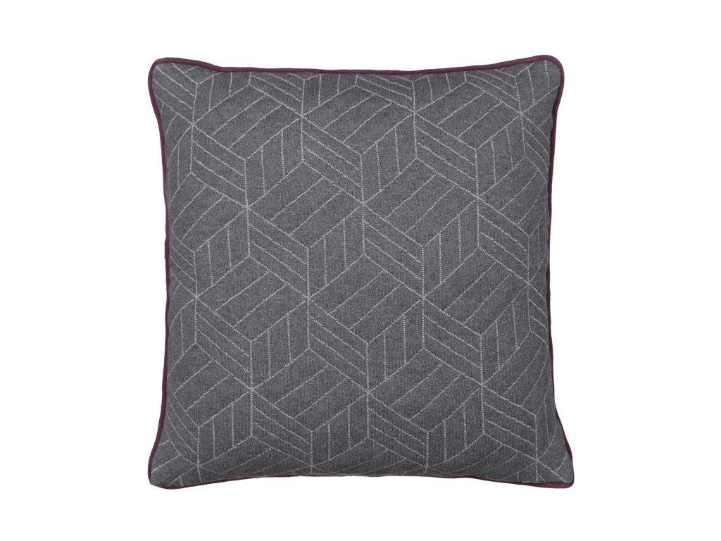 Povlak na polštář s lemováním, šedobílý/šedý, 50 x 50 cm BLOMUS