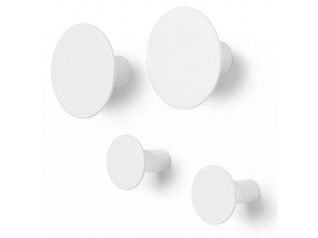 Háčky do zdi set 4 ks, bílé BLOMUS
