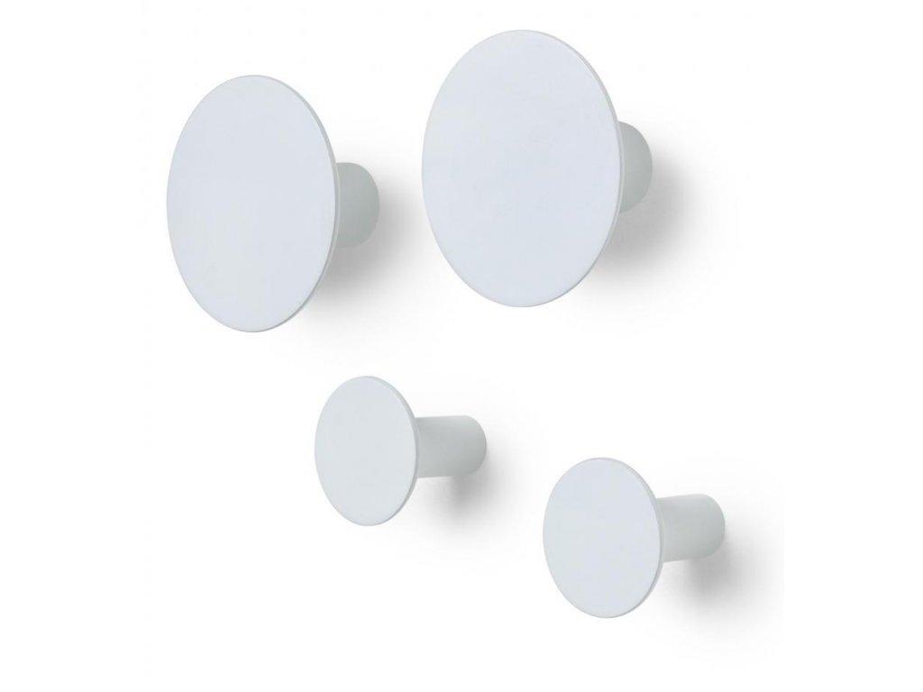 Háčky do zdi set 4 ks, šedobílé BLOMUS