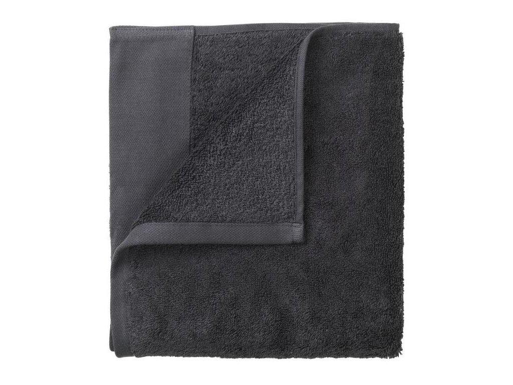 Set 4 ručníků 30 x 30 cm, šedočerný BLOMUS