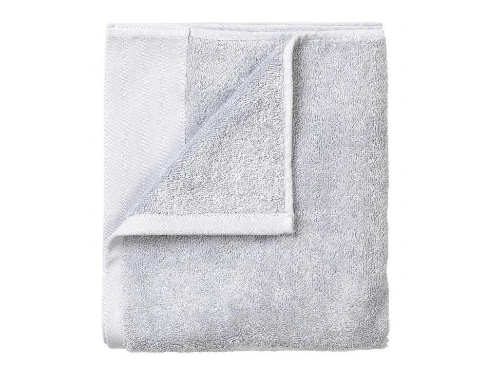 Set 4 ručníků 30 x 30 cm, šedobílý BLOMUS