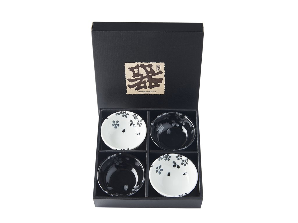 Made in Japan Set misek Black & White Sakura 100 ml 4 ks