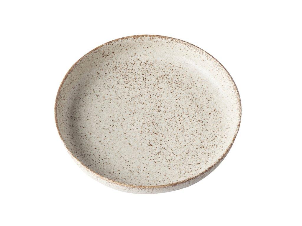 Made in Japan Mělký talíř s vysokým okrajem Fade 20 cm pískový