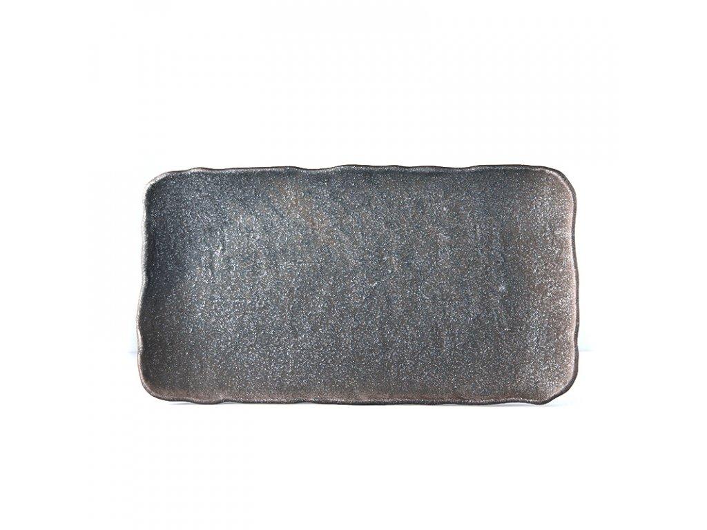 Made in Japan Servírovací deska Stone Slab šedá 35 x 20 cm
