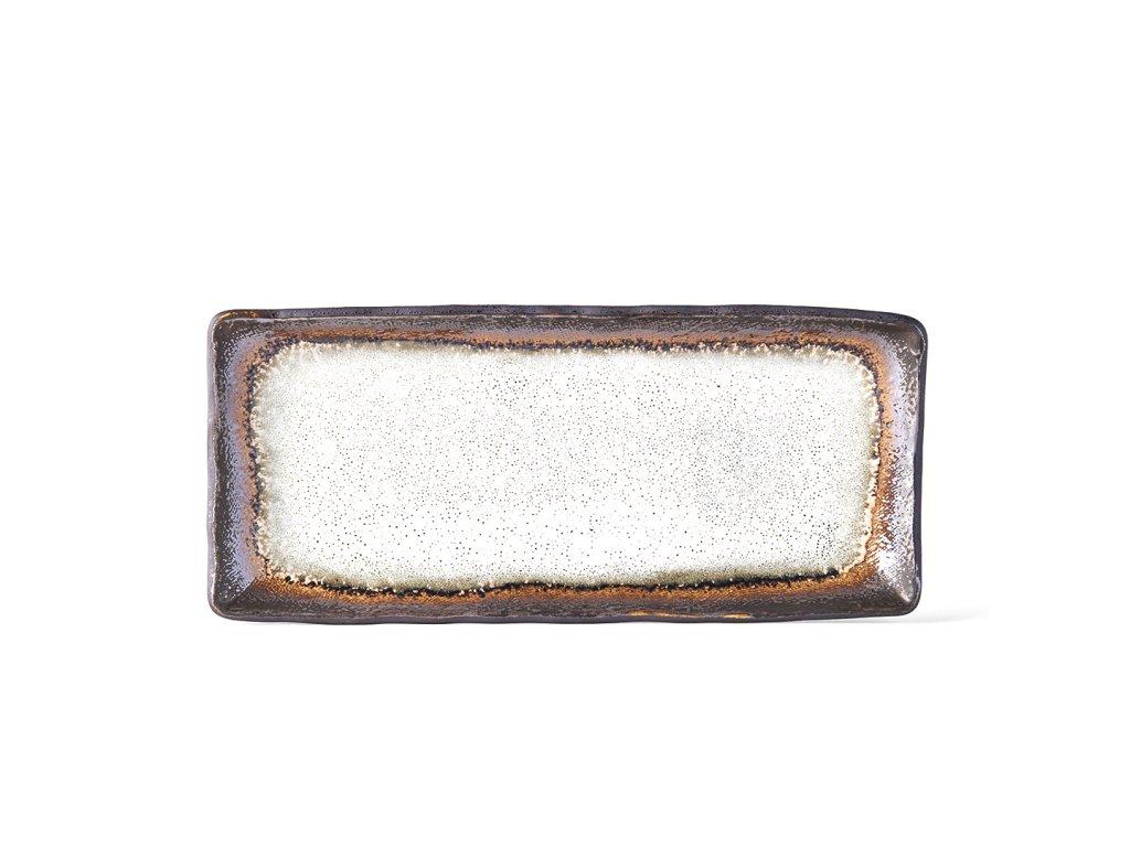 Made in Japan Talíř na sashimi Akane Grey 29 x 13 cm