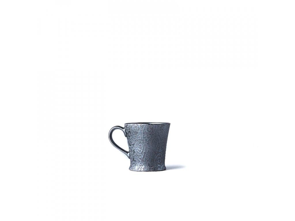 Made in Japan Hrnek s uchem Black Scroll 250 ml