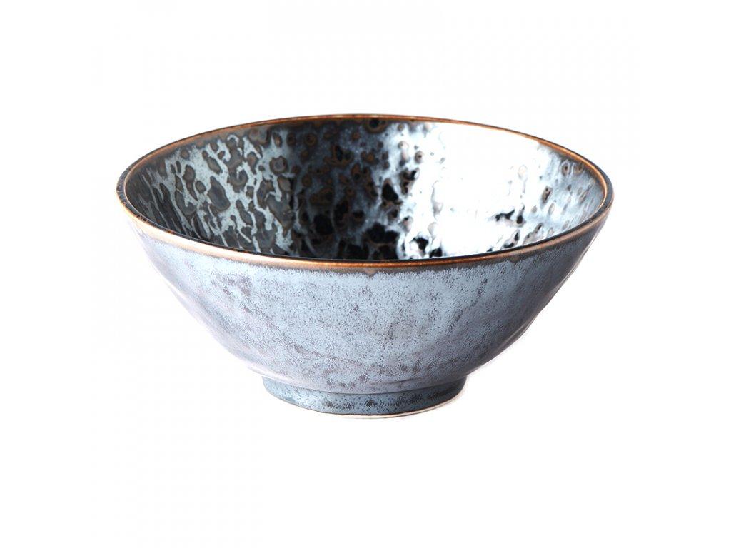 Made in Japan Mísa na nudle Black Pearl 20 cm 900 ml
