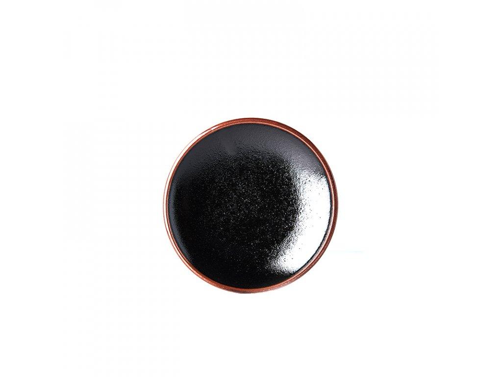Made in Japan Předkrmový mělký talíř Tenmokku 20 cm