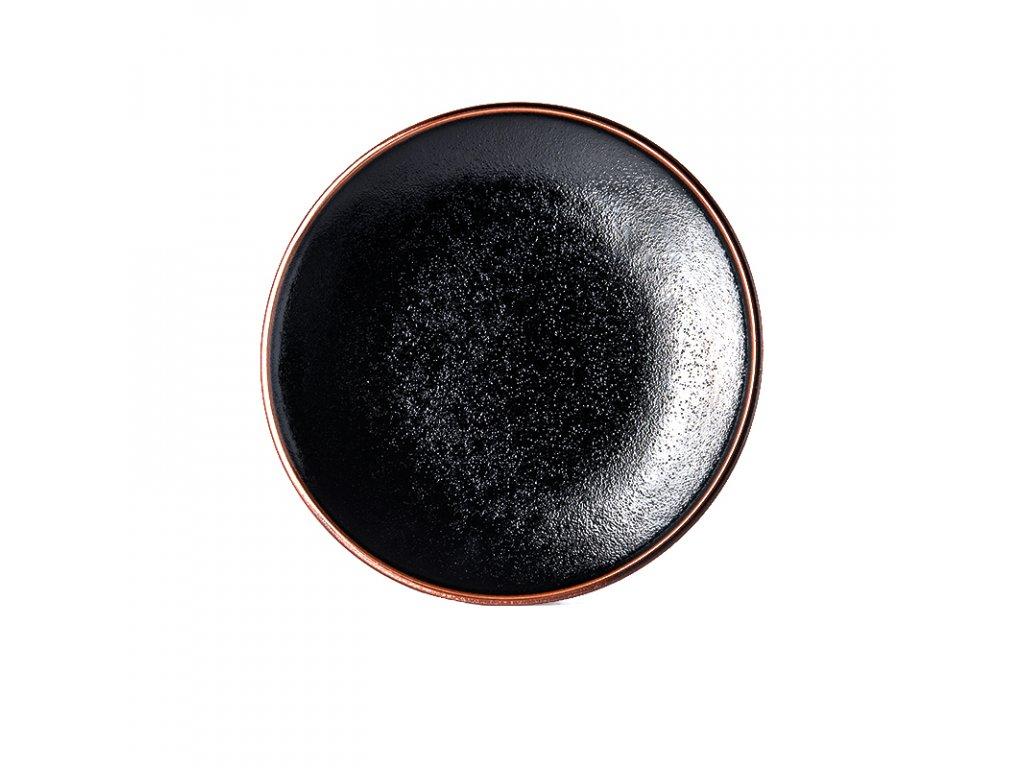 Made in Japan Mělký talíř Tenmokku 25 cm