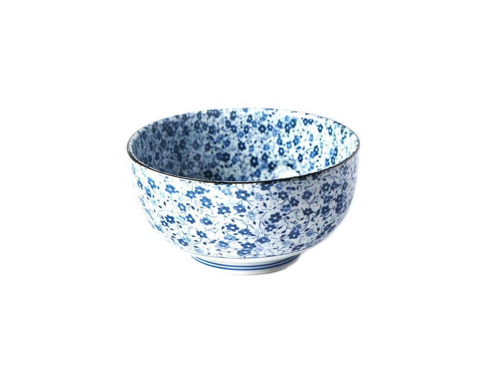 Made in Japan Střední miska Blue Daisy 16 cm 800 ml