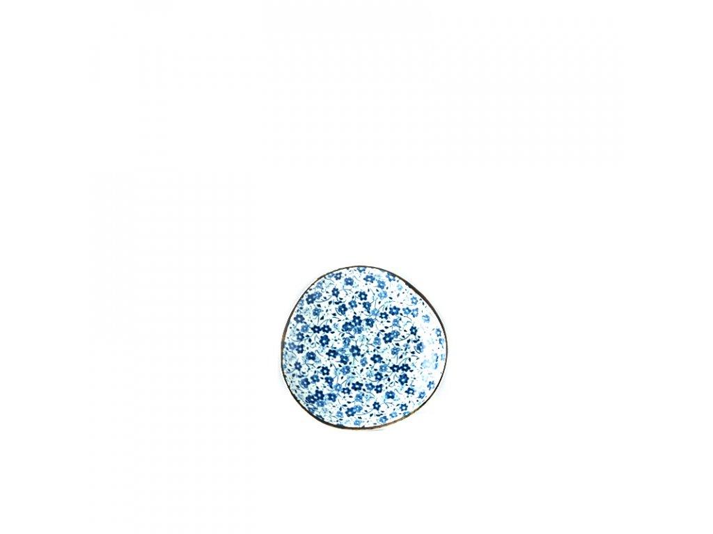 Made in Japan Malý mělký talíř Blue Daisy 12 cm