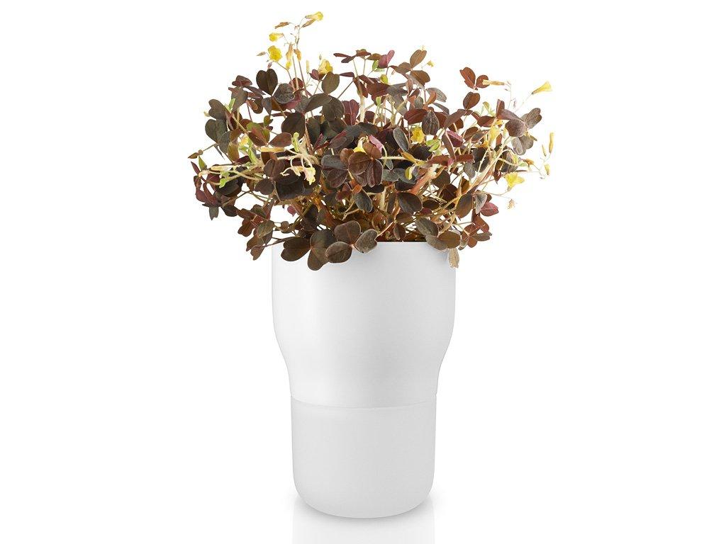Samozavlažovací keramický květináč křídově bílý Ø 9 cm, Eva Solo