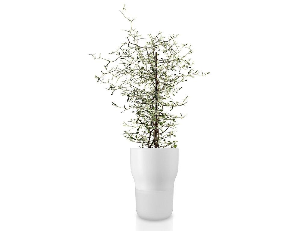 Samozavlažovací keramický květináč křídově bílý Ø 13 cm, Eva Solo