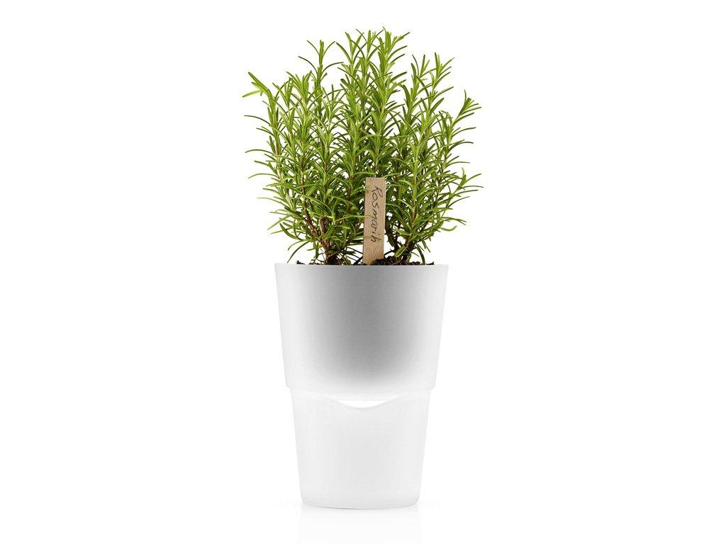 Samozavlažovací květináč ledově bílá Ø 13 cm, Eva Solo