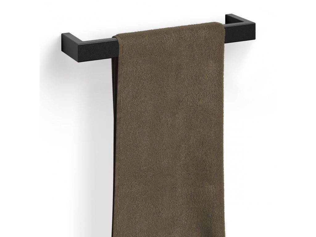 držák na ručníky nerezový černý 46,5 cm LINEA Zack