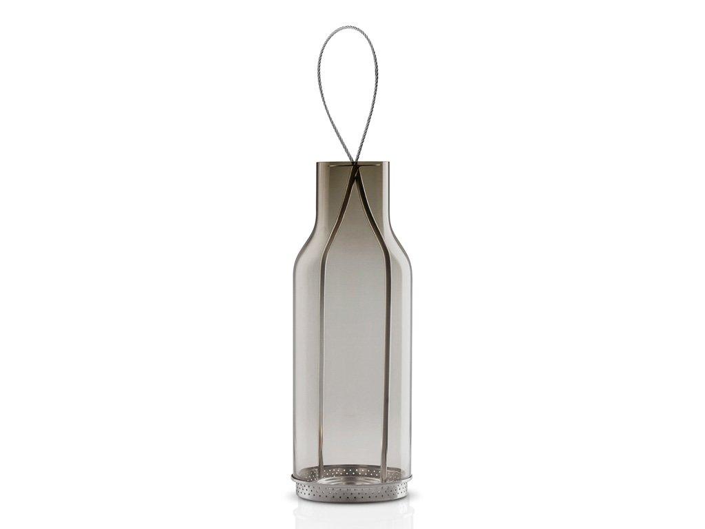 Závěsná lucerna na čajovou svíčku 25 cm kouřové sklo, Eva Solo