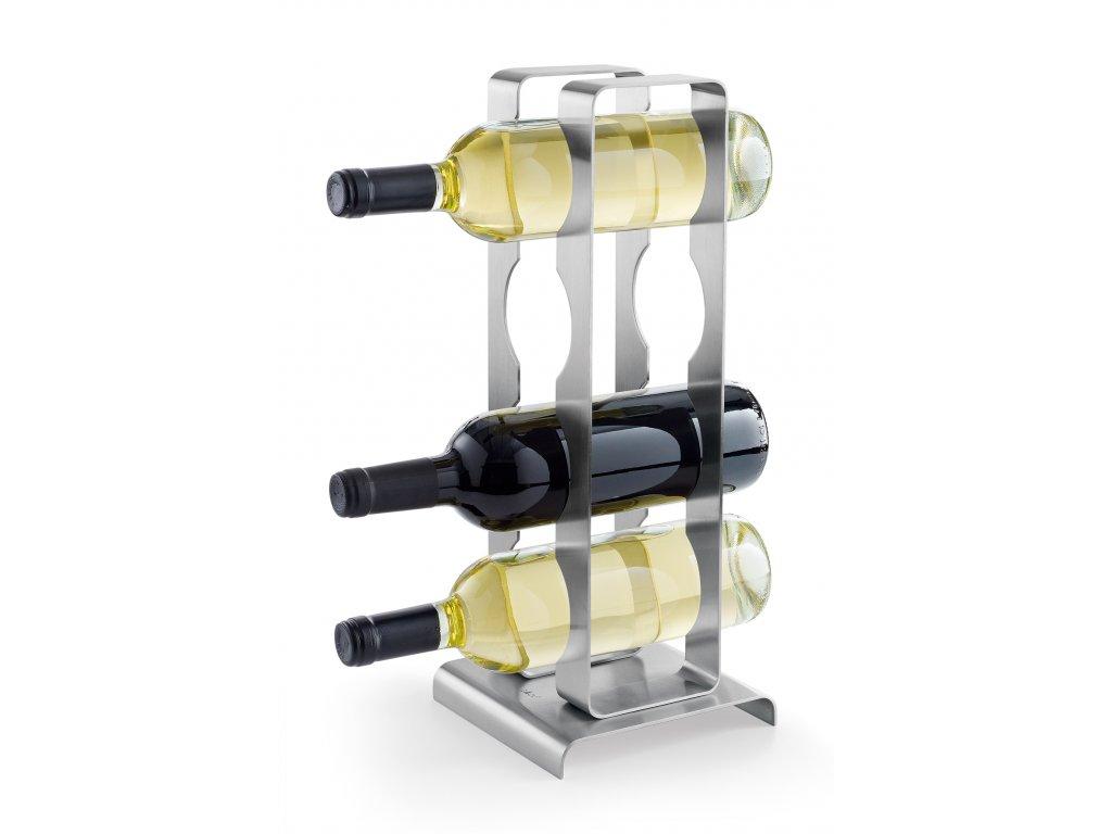 Stojan na 4 láhve vína broušený nerez ZACK