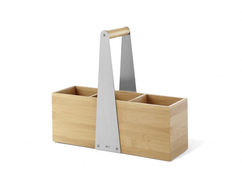 košík na kuchyňské pomůcky z bambusu ZACK