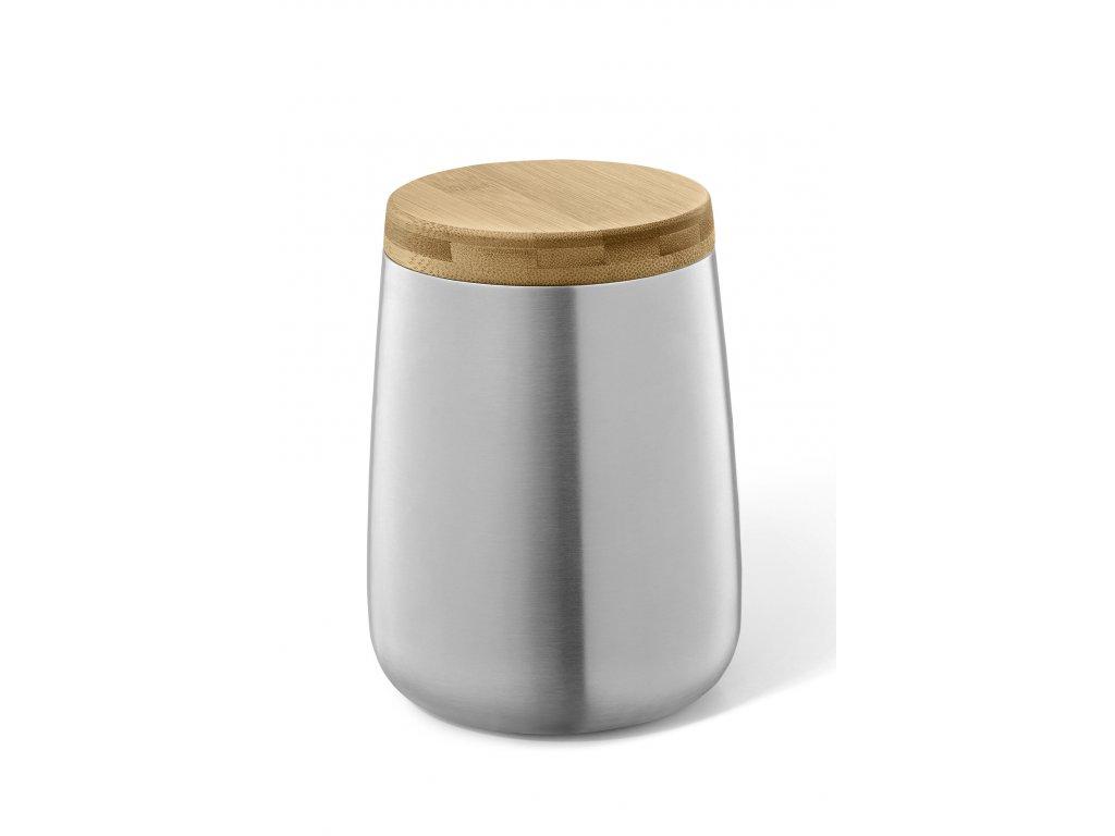 Uzavíratelná nádoba z nerezu s uzávěrem z bambusu ZACK