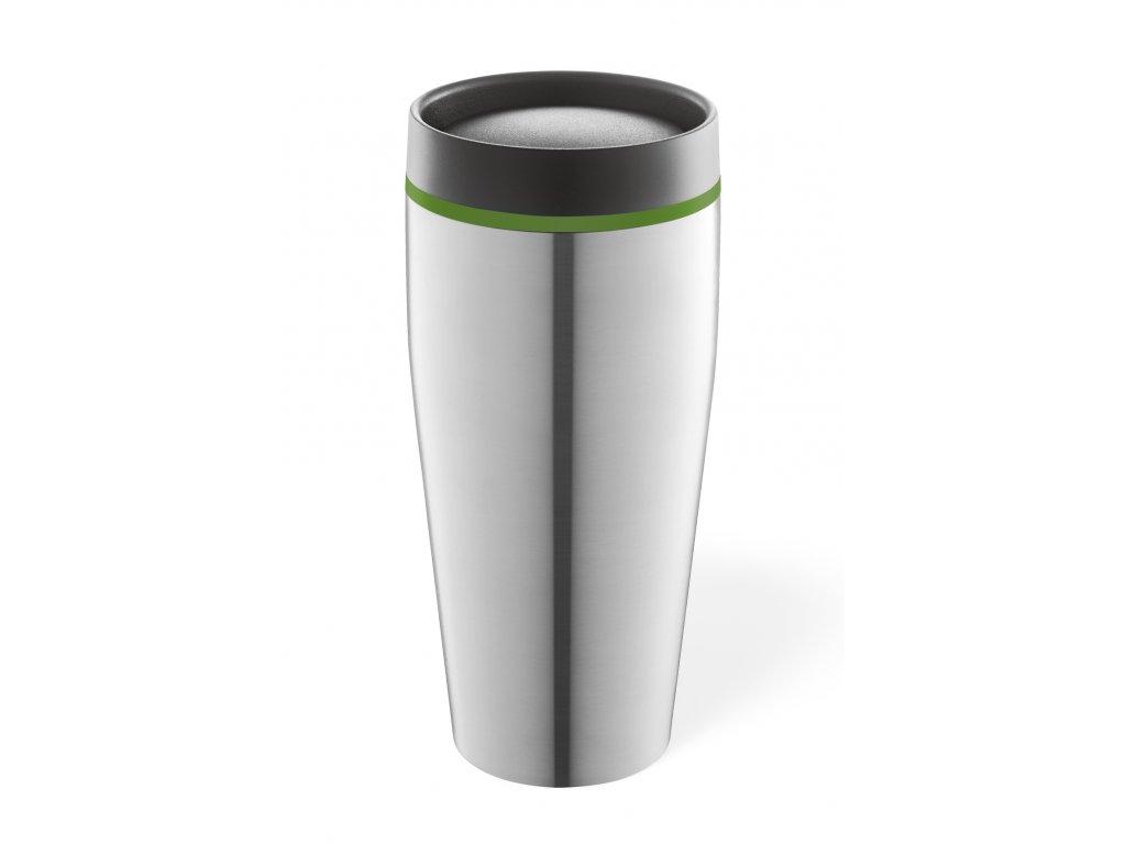 Termohrnek na kávu broušený nerez ZACK