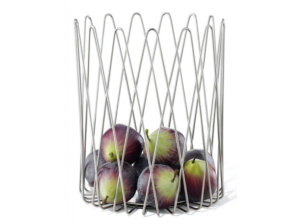 Vysoký košík na ovoce lesklý ZACK