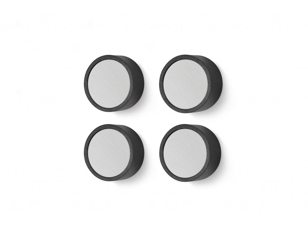 Set 4 kusů magnetů monor nerezových menších ZACK