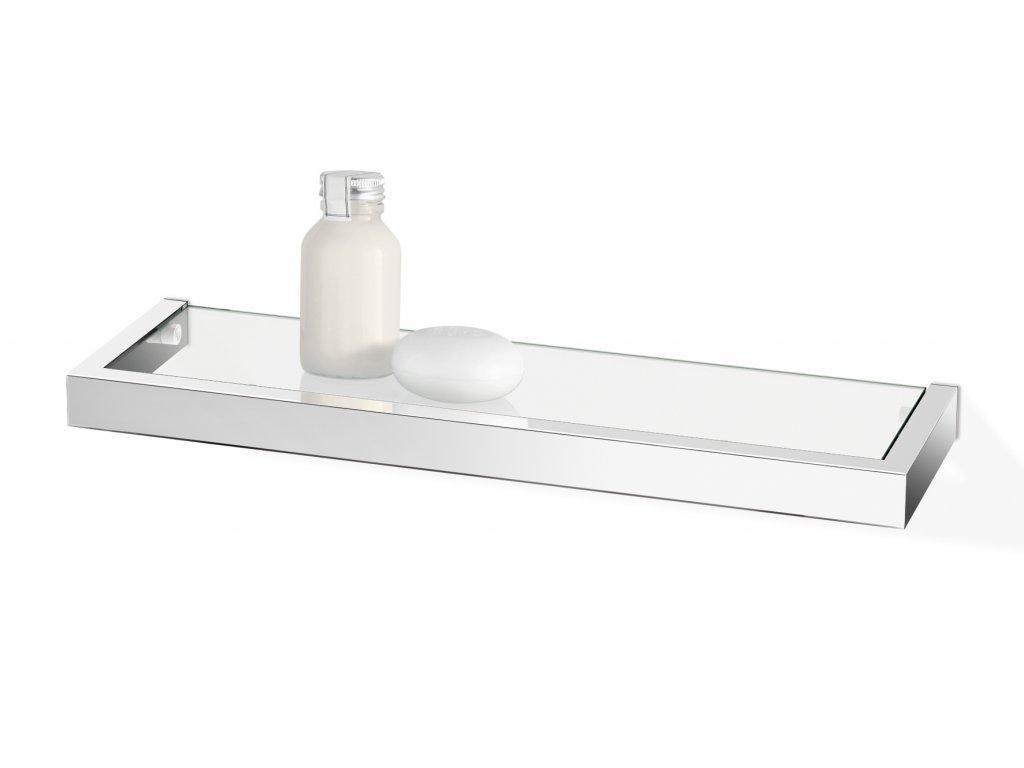 Koupelnová polička LINEA nerezová lesklá 46,5 cm ZACK