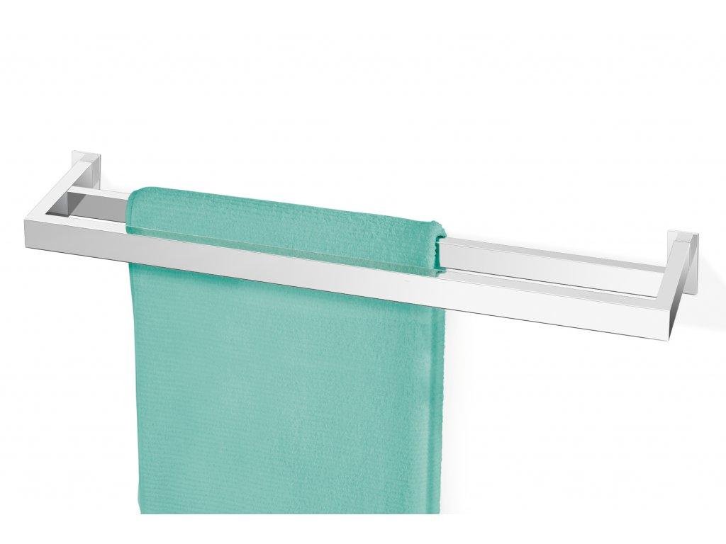 Závěsná tyč na ručníky dvojitá LINEA nerezová broušená ZACK