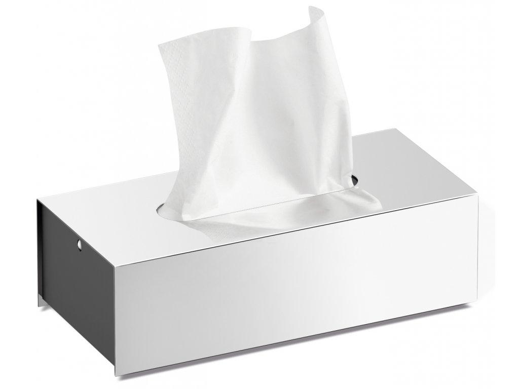 Box na papírové kapesníčky PURO nerezový lesklý ZACK