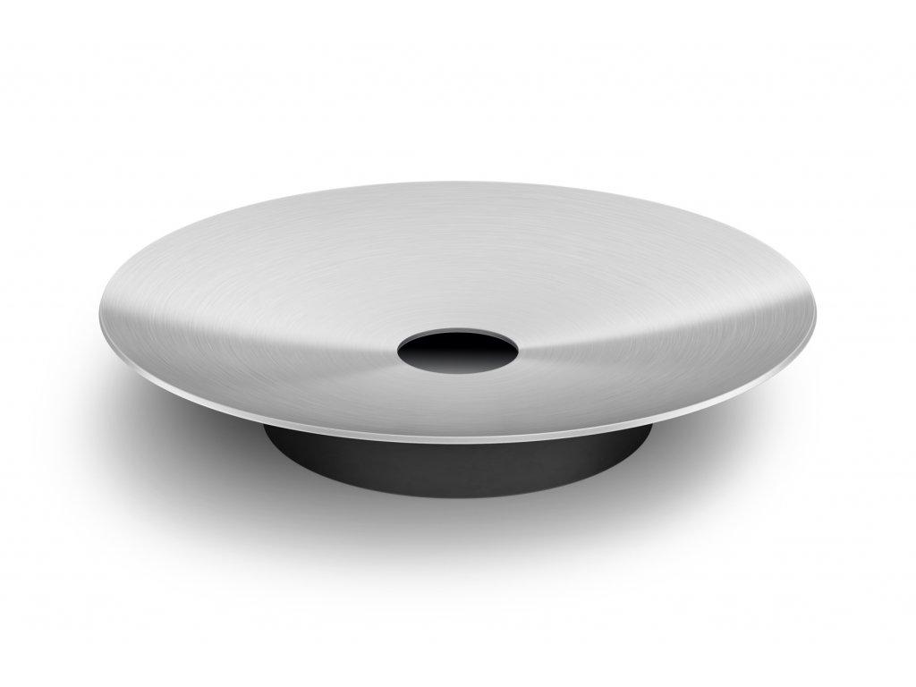 Kruhová podložka pod mýdlo SOVE nerezová broušená ZACK