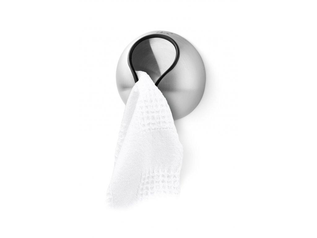 Klip na ručníky LOFT nerezový broušený samolepící ZACK