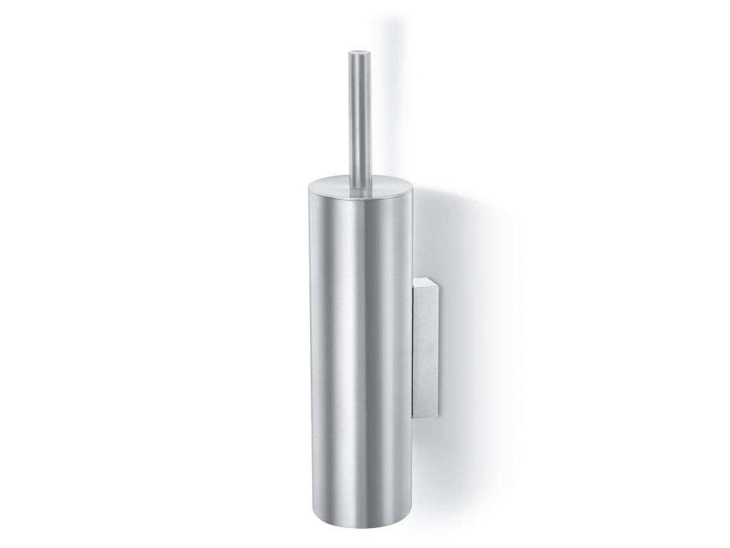 WC štětka TUBO nerezová broušená nástěnná ZACK