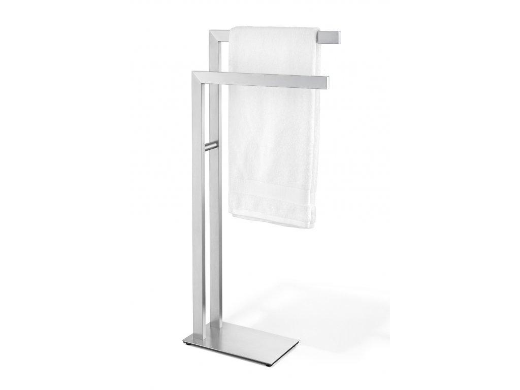 Stojací sušák na ručníky nerezový broušený ZACK